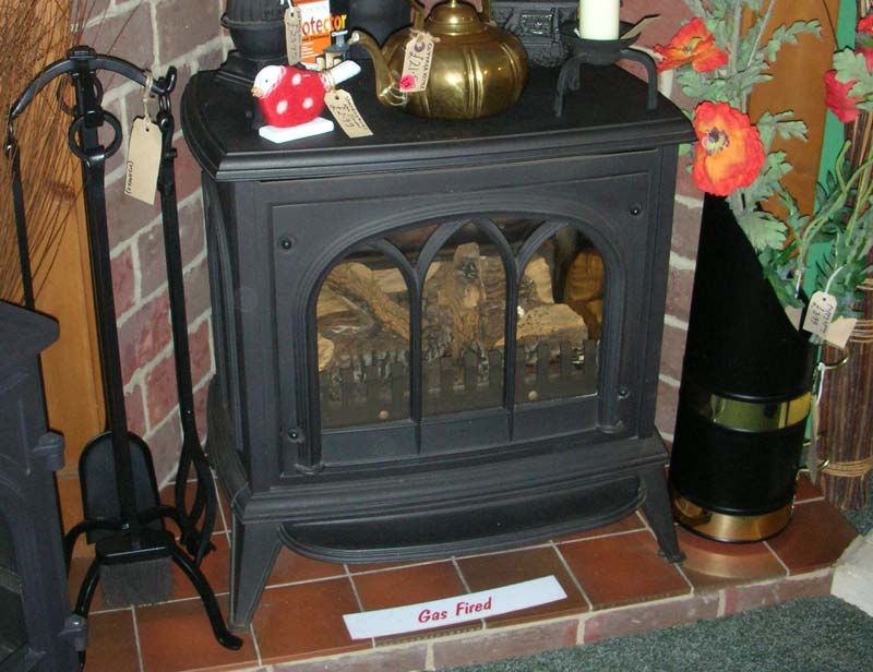 Gas Stove with wood effect