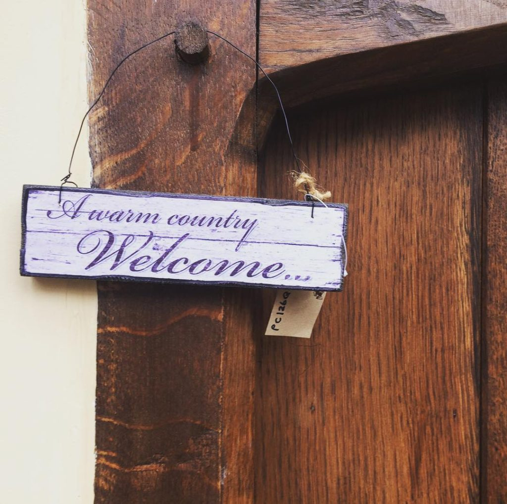 Vintage style welcome sign